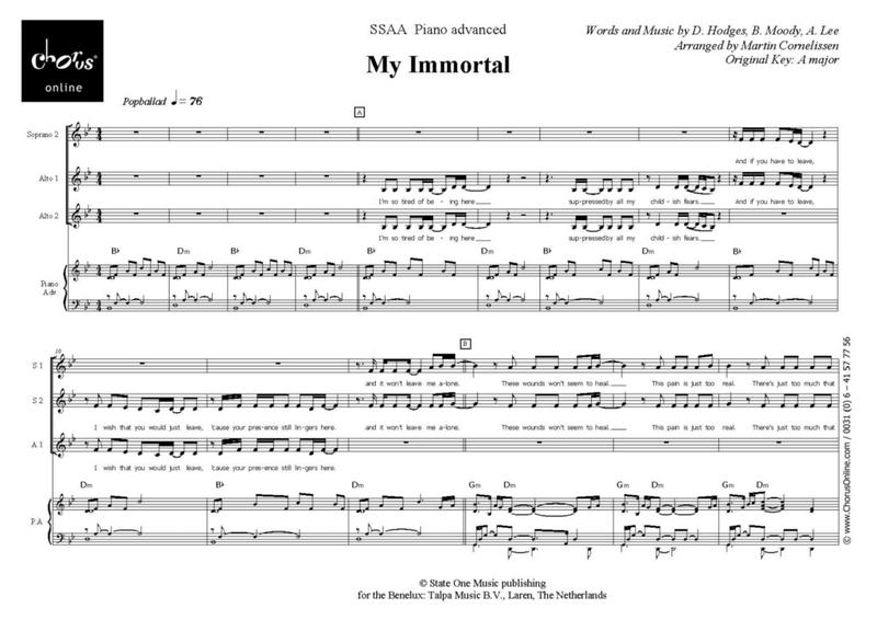 my inmortal en mp3: